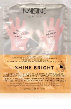 Nails Inc. Shine Bright maschera ringiovanente per le mani