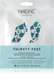 Nails Inc. Thirsty Feet Hydratisierende Maske für Füssen