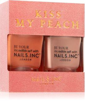 Nails Inc. Kiss my peach conditionnement avantageux (ongles)