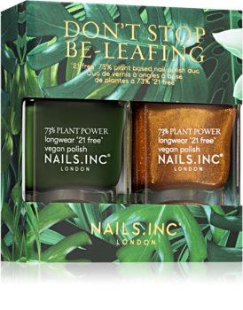 Nails Inc. Don't Stop Be-Leafing Ekonomiförpackning (för naglar)