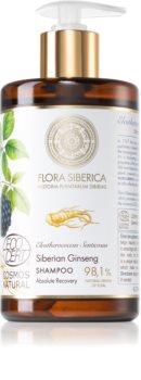 Natura Siberica Flora Siberica Siberian Ginseng sampon hidratant pentru păr uscat și deteriorat