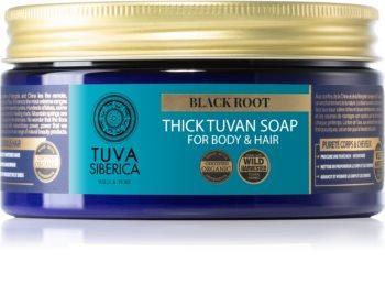 Natura Siberica Tuva Siberica Black Root sapone liquido per corpo e capelli