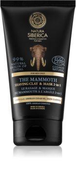 Natura Siberica For Men Only маска с глина за бръснене и почистване на лицето