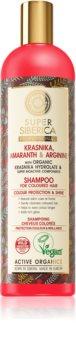 Natura Siberica Krasnika, Amaranth & Arginine čisticí a vyživující šampon pro barvené vlasy