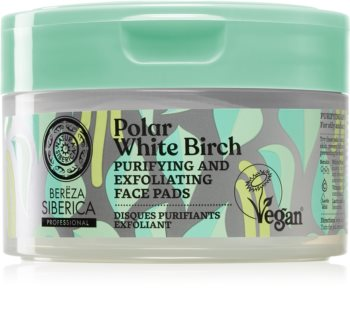 Natura Siberica Polar White Birch Exfoliating Cotton Pads For Oily And Problematic Skin