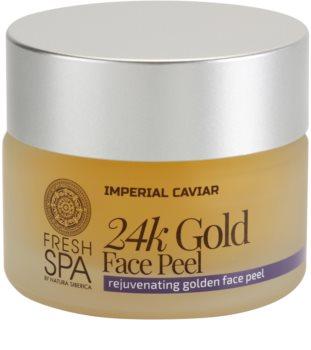 Natura Siberica Fresh Spa Imperial Caviar scrub ringiovanente viso con oro a 24 carati