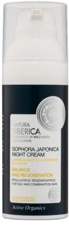 Natura Siberica Sophora Japonica crema notte rigenerante per pelli grasse e miste