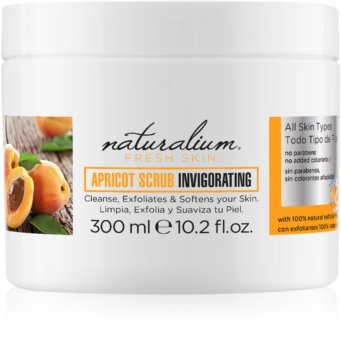 Naturalium Fresh Skin Apricot енергизиращ скраб за тяло