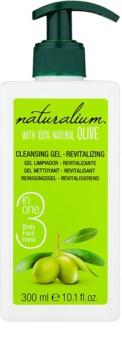 Naturalium Olive gel detergente rivitalizzante per viso e corpo