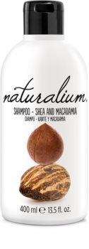Naturalium Nuts Shea and Macadamia champô regenerador para cabelo seco a danificado