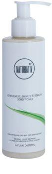 Naturativ Hair Care Getleness,Shine&Strength condicionador para o couro cabeludo sensível