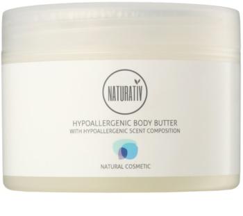 Naturativ Body Care Hypoallergenic manteca corporal hidratante con efecto calmante para pieles secas y muy secas