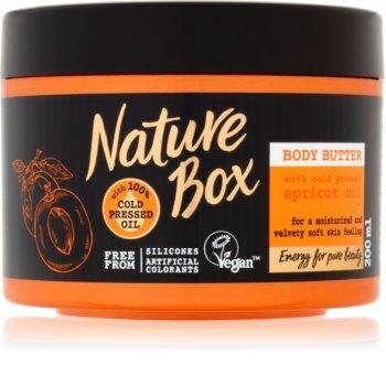 Nature Box Apricot burro corpo idratante intenso per pelli delicate e lisce