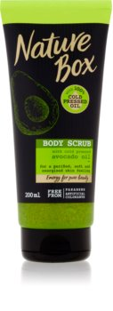 Nature Box Avocado esfoliante detergente corpo