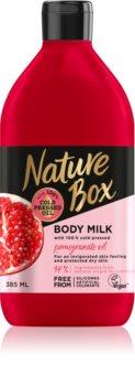 Nature Box Pomegranate povzbuzující tělové mléko s hydratačním účinkem