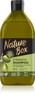 Nature Box Olive Oil защитен шампоан  срещу късане на  косата