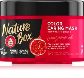 Nature Box Pomegranate подхранваща и хидратираща маска за коса за защита на цветовете