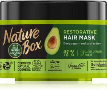Nature Box Avocado intenzivní regenerační maska pro poškozené vlasy