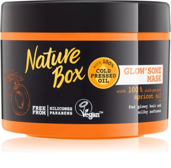 Nature Box Apricot intenzivně vyživující maska pro lesk a hebkost vlasů