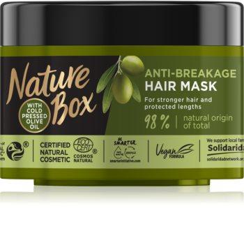Nature Box Olive Oil maska proti lámavosti vlasů