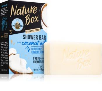 Nature Box Shower Bar Coconut Oil почистващ твърд сапун