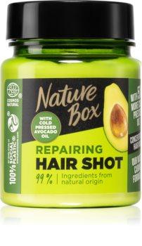 Nature Box Avocado Hair Shot intenzivní regenerační maska s avokádem