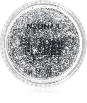 NeoNail Chrome Flakes Effect No. 1 třpytivý prášek na nehty