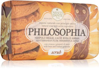 Nesti Dante Philosophia Scrub with Bran & Walnut Granules Natural Soap