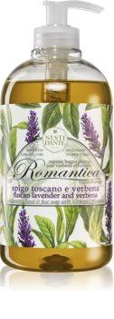 Nesti Dante Romantica Wild Tuscan Lavender and Verbena gyengéd folyékony szappan