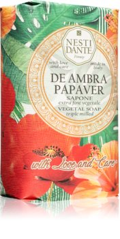 Nesti Dante De Ambra Papaver Extra Gentle Natural Soap