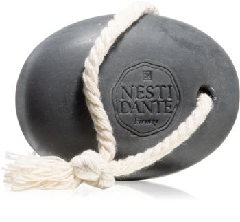 Nesti Dante Luxury Black Body Cleanser on a Rope savon naturel