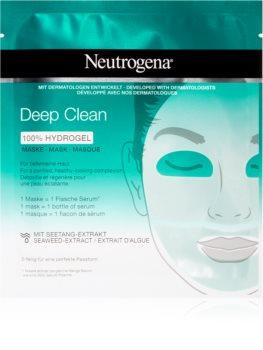Neutrogena Deep Clean maschera idrogel intensiva per una pulizia in profondità