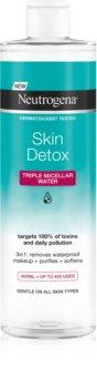 Neutrogena Skin Detox acqua micellare detergente per make-up resistente all'acqua