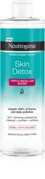 Neutrogena Skin Detox čisticí micelární voda na voděodolný make-up