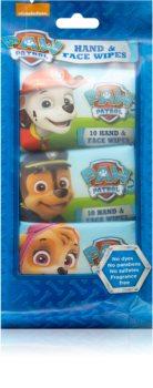 Nickelodeon Paw Patrol Hand & Face Wipes dětské jemné vlhčené ubrousky na tvář, ruce a tělo