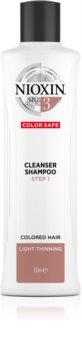 Nioxin System 3 Color Safe Cleanser Shampoo čisticí šampon pro barvené řídnoucí vlasy