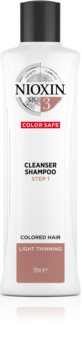 Nioxin System 3 Color Safe Cleanser Shampoo почистващ шампоан за боядисана и оредяваща коса