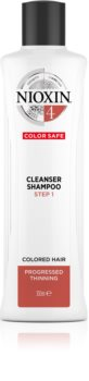 Nioxin System 4 Color Safe Cleanser Shampoo Gentle Shampoo For Damaged And Colored Hair
