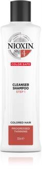 Nioxin System 4 Color Safe Cleanser Shampoo Hellävarainen Hiustenpesuaine Vaurioituneille Ja Värjätyille Hiuksille
