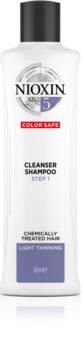 Nioxin System 5 Color Safe Cleanser Shampoo Reinigende Shampoo voor gekleurd en dun wordend Haar