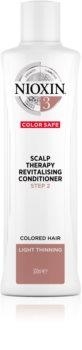 Nioxin System 3 Color Safe Scalp Therapy Revitalising Conditioner hydratačný a vyživujúci kondicionér pre jednoduché rozčesávanie vlasov