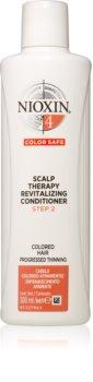 Nioxin System 4 Color Safe Scalp Therapy Revitalizing Conditioner condicionador profundamente nutritivo para cabelo danificado e pintado
