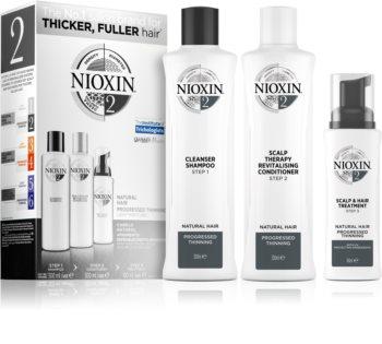 Nioxin System 2 Natural Hair Progressed Thinning dárková sada III. (proti vypadávání vlasů) unisex