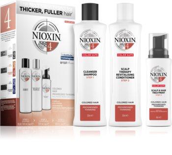 Nioxin System 4 Color Safe lote de regalo para cabello teñido