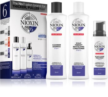 Nioxin System 6 Color Safe Chemically Treated Hair Cosmetic Set For Thinning Hair