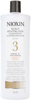 Nioxin System 3 condicionador leve para rarefação inicial suave de cabelo quimicamente tratado