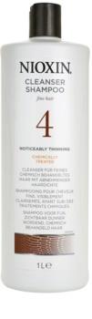 Nioxin System 4 champô para cabelo sensivel, delicado e quimicamente tratado