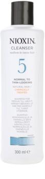 Nioxin System 5 champú limpiador para una pérdida moderada de la densidad del cabello normal-grueso, virgen o químicamente tratado