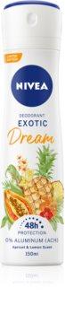 Nivea Exotic Dream alumínium mentes dezodor spray formában