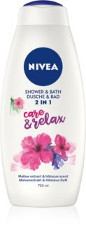 Nivea Care & Relax Bath Foam And Shower Gel 2 In 1 Maxi